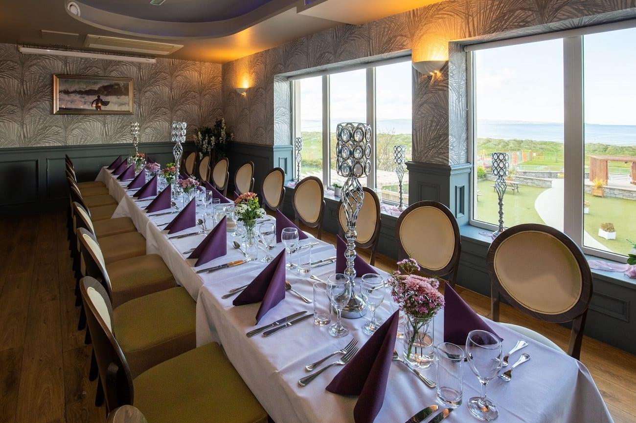 A ocean-sands-hotel-atlantic-room-set-up-sea-beach-view-dining-wild-atlantic-way-sligo